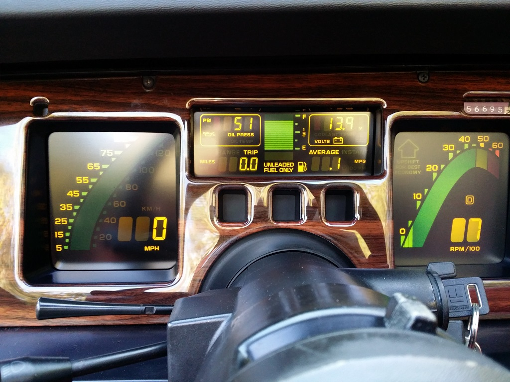 Digital dash with woodgrain kit