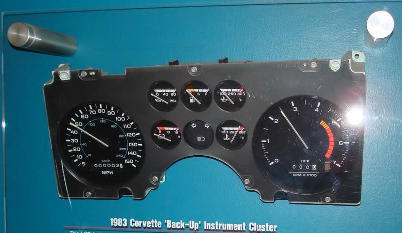 1983 Corvette Backup Cluster