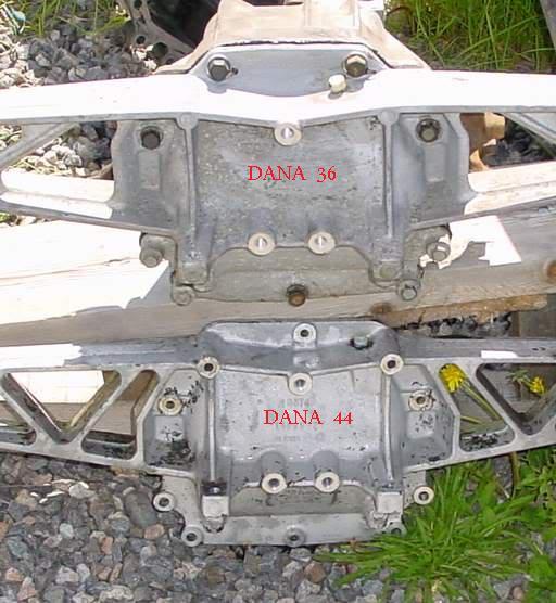 Dana 36 and Dana 44