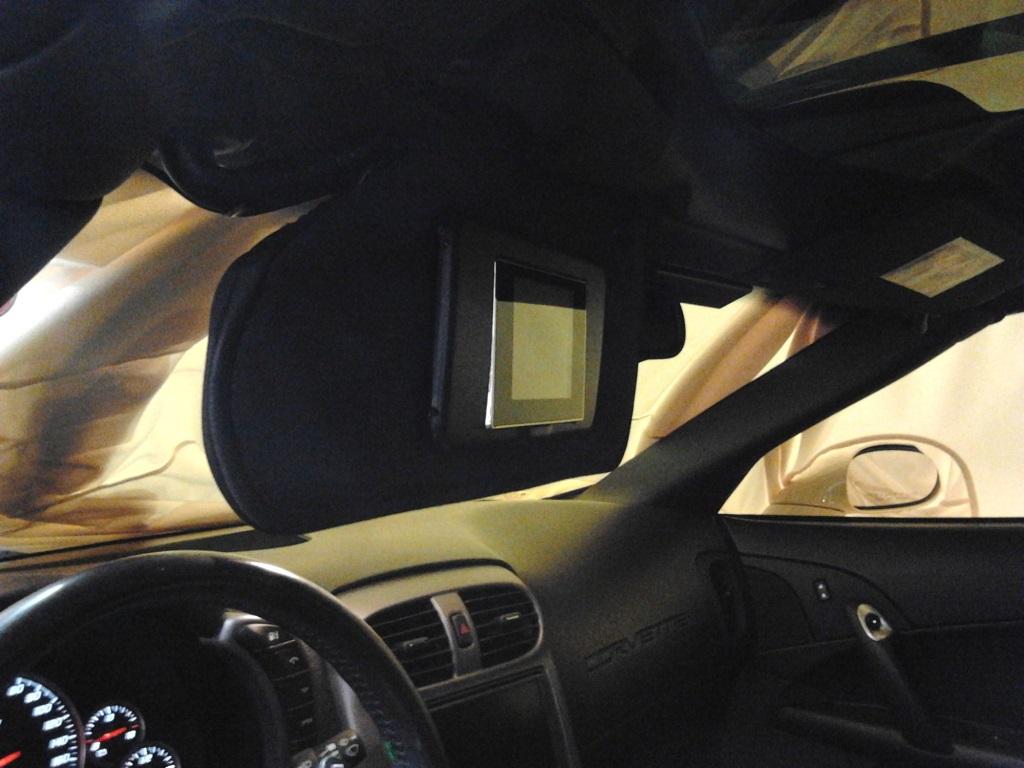 Corvette forum members flip down visor screen
